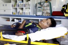 Nairo Quintana abandona la Vuelta tras una nueva caída