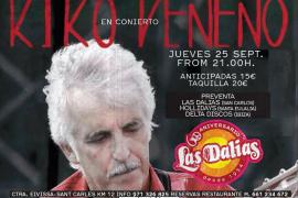 Kiko Veneno actuará por primera vez en Eivissa el 25 de septiembre