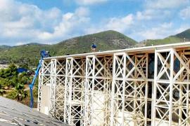 El Consell d'Eivissa inicia las obras para tapar las goteras del Recinto Ferial