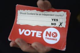 """El """"no"""" gana en Escocia"""