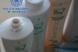 Incautados en Eivissa 11 kilos de cocaína líquida ocultos en envases de champú