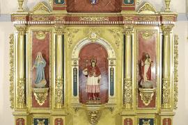 La iglesia de Sant Carles vuelve a presumir de retablo casi 80 años después