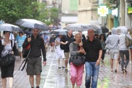 Balears, en alerta naranja por intensas lluvias