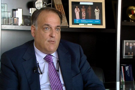 Tebas afirma que de independizarse Catalunya ni Barça ni Espanyol jugarían la Liga española