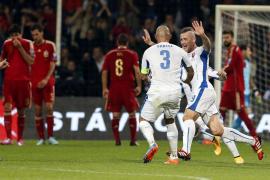 España sucumbe ante Eslovaquia