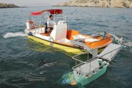 Casi nueve toneladas de residuos han sido recogidas, este verano, en las aguas de las Pitiüses
