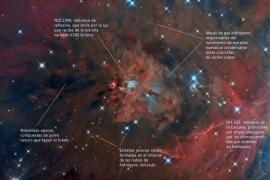 El Telescopio de Cala d'Hort fotografía en alta resolución la nebulosa IC 427 en la constelación de Orión