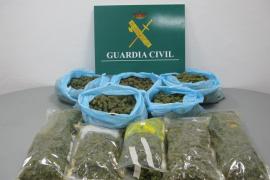 Dos detenidos con más de 7 kilos de marihuana en su vivienda