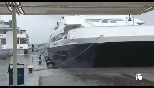 VÍDEO: Canceladas las conexiones marítimas entre las Pitiüses
