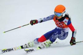 La esquiadora y violinista Vanessa Mae.