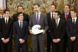 El Rey felicita a los cuatro campeones del mundo de motociclismo