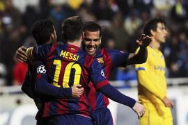 Noche redonda del Barça en Nicosia