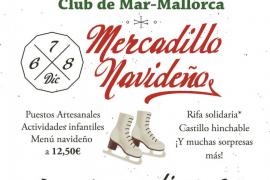 Cartel del Mercadillo navideño del Club de Mar.