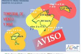 Aemet advierte de un fuerte temporal para este martes en el norte de Mallorca