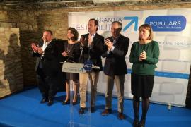 Bauzá clama a la unidad en la presentación de los tres candidatos de Eivissa