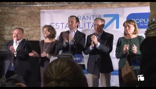 VÍDEO: Bauzá apela a la «unidad» del PP en Eivissa para evitar que gobiernen «los que trajeron la crisis»