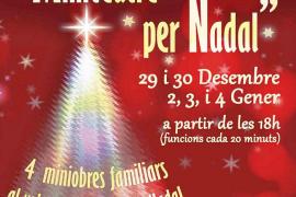 Cartel promocional del espectáculo 'Miniteatre per Nadal'.