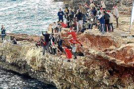 Espíritu navideño en los saltos de Sa Punta