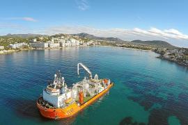 Finalizan los trabajos del tendido del cable eléctrico entre Eivissa y Mallorca