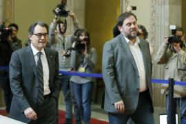La reunión exprés entre Mas y Junqueras acaba sin acuerdos