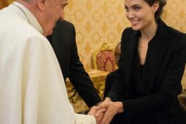 Angelina Jolie presenta 'Unbroken' ante el Papa Francisco