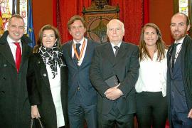 Entrega de galardones en la Festa de l'Estendard de Palma