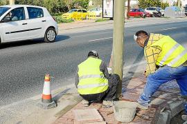 El Consell d'Eivissa ultima la instalación de semáforos en Ca na Negreta