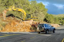 Paralizan las obras de la carretera de Sant Joan al afectar a una cueva de murciélagos