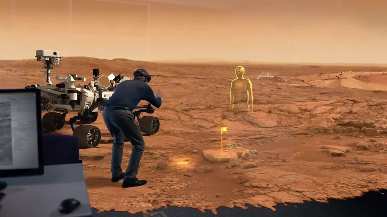 NASA y Microsoft planean viajes virtuales a Marte