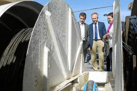 Company confía en que el emisario y la depuradora de Cala Tarida empiecen a funcionar este año