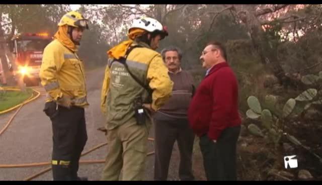 VÍDEO: Extinguido el incendio forestal en el Port de Sant Miquel