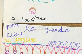 Unos niños que se extraviaron agradecen el auxilio de la Guardia Civil con un dibujo