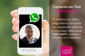 UPyD facilita un teléfono para contactar por WhatsApp con Toni Cantó