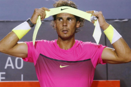 Rafael Nadal se baja del podio