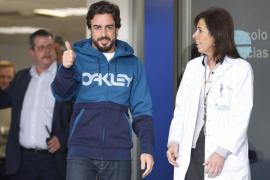 Fernando Alonso abandona el hospital