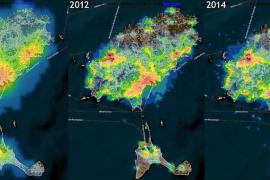 Vila y Platja d'en Bossa presentan la mayor contaminación lumínica de toda la isla