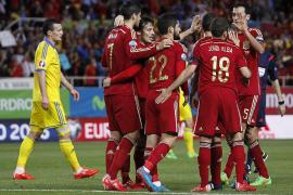 Un solitario gol de Morata da el triunfo a España