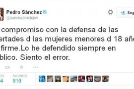 Pedro Sánchez se despista y vota a favor de la reforma de la ley del aborto