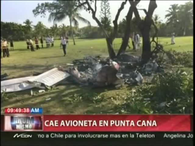 Mueren dos españoles en Punta Cana en un accidente de avioneta