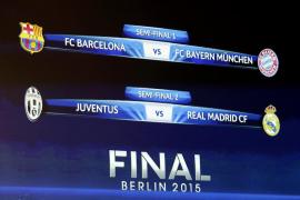 Barcelona-Bayern y Juventus-Real Madrid, semifinales de Champions