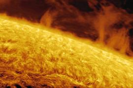 Primeras fotografías solares del Observatorio de Puig des Molins