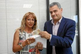 Primera ganadora  de los 1.000 euros