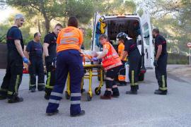 Tres heridos leves tras un choque frontal en la antigua carretera de Santa Eulària