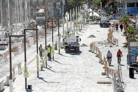 Las terrazas de la fachada marítima abrirán el lunes y no se limitará la entrada de coches