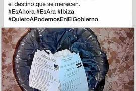 Un candidato de Podemos tira las papeletas del PP y del PSOE a la basura y cuelga la foto en Facebook