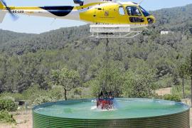 Los propietarios forestales ponen a prueba los depósitos contraincendios