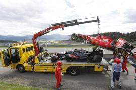 Alonso: «Todo está bien, Kimi patinaba, perdió el control y nos fuimos al muro»