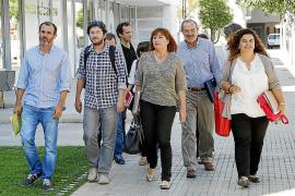 Biel Barceló, Alberto Jarabo, Francina Armengol, Antonio Diéguez y Pilar Costa