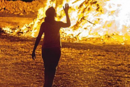 Fuego purificador en Formentera