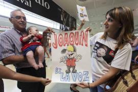 Caluroso recibimiento para el finalista de 'La Voz', Joaquín Garli